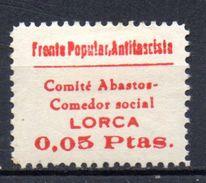 Viñeta Lorca Nº 1b  Frente Popular Antifascista. 0,05 Ptas. - Viñetas De La Guerra Civil
