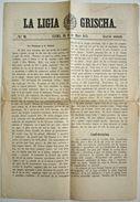 TRÈS RARE. Journal LA LIGIA GRISCHA 1871 + Feuilleton. Cuera (Coire), Romanche / Rumantsch, Langue Romane. HELVETICA. - Livres, BD, Revues