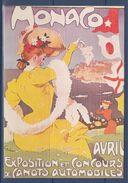 = Monaco, Avril, Exposition Et Concours De Canots Automobiles, Carte Postale, - Pubblicitari
