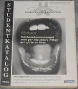 Kårservice I Linköping Studentkatalog 95/96 - Scandinavian Languages