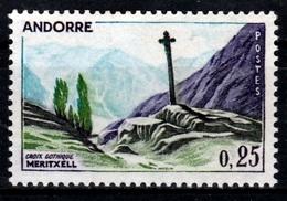 Andorra (French Adm.), Gothic Cross Of Meritxell, 25c., 1961, MNH VF - French Andorra