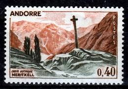 Andorra (French Adm.), Gothic Cross Of Meritxell, 40c., 1961, MNH VF - French Andorra