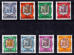 Andorra (French Adm.), Coat Of Arms, 1961, MNH VF Complete Set Of 8 - French Andorra