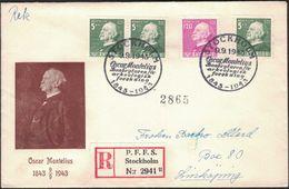 FDC 9/9 1943 Oscar Montelius *ILLUSTRATED* - FDC
