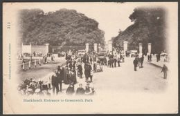 Blackheath Entrance To Greenwich Park, London, 1904 - P. S. & V. #311 Postcard - London Suburbs