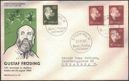 FDC 22/8 1960 Gustaf Fröding *ILLUSTRATED SESAM* - FDC