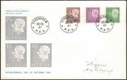 FDC 23/10 1961 Gustav VI Adolf *ILLUSTRATED* - FDC