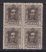 España 1922. Alfonso XIII Tipo Vaquer Bloque De 4. Ed 318. MNH. *. - 1889-1931 Reino: Alfonso XIII