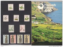 Faroe Islands 1980 Full Yearset, Flowers, Europa, Kirkjubøur, Mi 48-58  MNH(**) - Féroé (Iles)