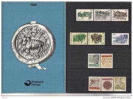 Faroe Islands 1981 Full Yearset, Old Torshavn, Europa Folklore, Historic Papers, Mi 59-69  MNH(**) - Féroé (Iles)