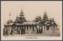 Burmese Pavilion, British Empire Exhibition, 1924 - Fleetway Press RP Postcard - Exhibitions