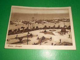 Cartolina Rimini - Spiaggia 1938 - Rimini
