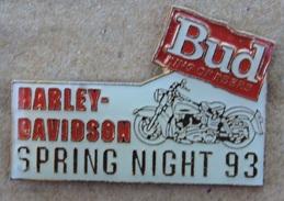 HARLEY DAVIDSON - SPING NIGHT 93 - MOTO -  BUD KING OF BEERS -       (JAUNE) - Motos