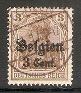 004827 Germany Occupation Of Belgium 1916 3c On 3pf FU - Zone Belge