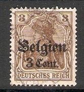 004828 Germany Occupation Of Belgium 1916 3c On 3pf FU - Belgische Zone