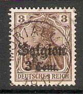 004829 Germany Occupation Of Belgium 1916 3c On 3pf FU - Zona Belga