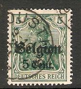 004830 Germany Occupation Of Belgium 1916 5c On 5pf FU - Zona Belga
