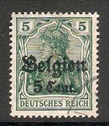 004831 Germany Occupation Of Belgium 1916 5c On 5pf FU - Zone Belge