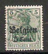 004832 Germany Occupation Of Belgium 1916 5c On 5pf FU - Zone Belge