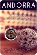 ANDORRE - 2 Euro 2016 - 25e Anniversaire De La Radio Et De La Télévision D'Andorre - Andorre