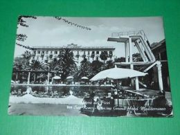 Cartolina San Remo - Piscina Grand Hotel Mediterraneo 1960 - Imperia