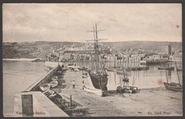 The Pier, St Ives, Cornwall, 1906 - Valentine's Postcard - St.Ives
