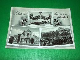 Cartolina Teramo - Saluti Dal Santuario Di S. Gabriele 1961 - Teramo