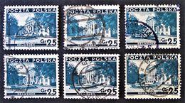 PALAIS DU BELVEDERE 1935 - OBLITERES - YT 383 - MI 305 - VARIETES DE TEINTES ET D'OBLITERATIONS - Gebraucht