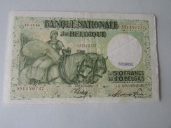 Nationale Bank Van Belgie : 50 FRANK Of 10 BELGA 1944 - [ 3] Occupazioni Tedesche Del Belgio