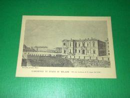 Cartolina L' Archivio Di Stato Di Milano (da Una Incisione Di D. Aspar Del 1792) - Milano (Milan)
