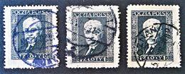 IGNAZ MOSCICKI 1928 - OBLITERES - YT 396C - VARIETES DE TEINTES ET D'OBLITERATIONS - Oblitérés