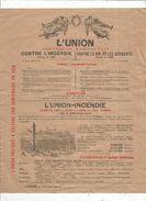 Publicité , L'UNION , Assurances , 1928 , 2 Scans , Frais Fr : 1.55 Euros - Advertising