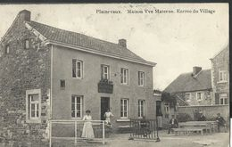 ** CPA - PLAINEVAUX - Maison Vve Materne - Entrée Du Village - CAFE    // - Neupré