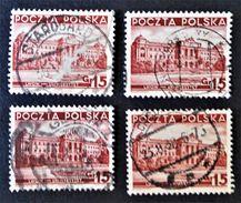 UNIVERSITE DE LWOW 1939 - OBLITERES - YT 393 - VARIETES DE TEINTES ET D'OBLITERATIONS - Gebraucht