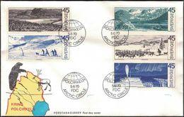 FDC 5/6 1970 Kring Polcirkeln *ILLUSTRATED* - FDC
