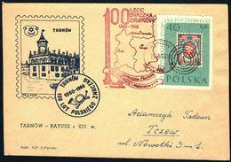 Poland 1960 Cancellation - 100 Years Of Polish Stamp 1860-1960 - PZF Tarnow - Tarnow 1 - 1944-.... Republic