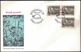 FDC 28/9 1970 Svensk Gruvdrift *ILLUSTRATED* - FDC