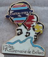17ème SEMAINE DE BALLONS 1995  - CHÂTEAU D'OEX - SUISSE - N°143  -    (JAUNE) - Montgolfier