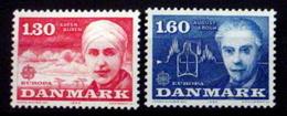 DENMARK # 664-665.  Europa - Blixen, Writer & Krogh, Psysiologist. MNH (**) - Denmark