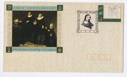 1992 ZEEHAN Tas AUSTRALIA Postal STATIONERY COVER FDC TASMAN 350th Anniv SPECIAL Pmk Stamps Map - Postal Stationery