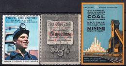 MINE / CHARBON - Foire De Douai / Allemagne 1898 / Congrès Américain 1931 - Timbres