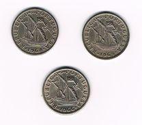 ) PORTUGAL 3 X  2 1/2  ESCUDOS  1964/1965/1966 - Portugal