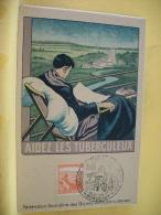 B8 9996 - 33 FEDERATION GIRONDINE DES OEUVRES ANTICUBERCULEUX - AIDEZ LES TUBERCULEUX - 1945 - Bordeaux