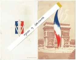 Bulletin ! Souvenir De La Libération Et De La Victoire. Année Scolaire 1944-45. - Diplomas Y Calificaciones Escolares