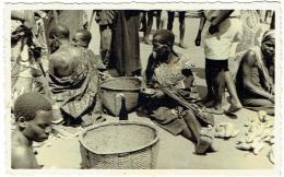 Carte Photo. Congo. Scène De Marché. Cachet Jugu. - Afrika