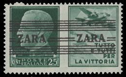 Italia – Zara (occupazione Tedesca) Deutsche Besetzung Zara (tre Righe Orizzontali) / Propaganda Di Guerra: 25 C. - Duitse Bez.: Zara