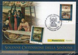 ITALIA 2010 -- La Sacra Sindone -- Cartolina Maximum -- - Cartes-Maximum (CM)