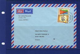 Postal History-28-12-2007 ASMARA - Airmail Cover To  Italy, Flag Stamp - Eritrea