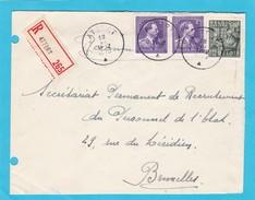 Enveloppe En Recommandé De ATTERT - 1934-1935 Léopold III