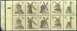 US 1980   Sc#1742a   15c Windmills Booklet Pane MNH** - Etats-Unis